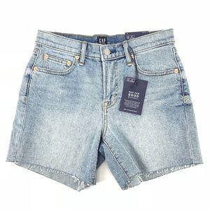 "Gap Denim Mid Rise 5"" Stretch Jean Shorts"
